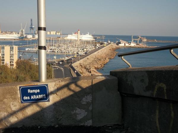 """Le port de Sète vu de la """" Rampe des Arabes"""""""