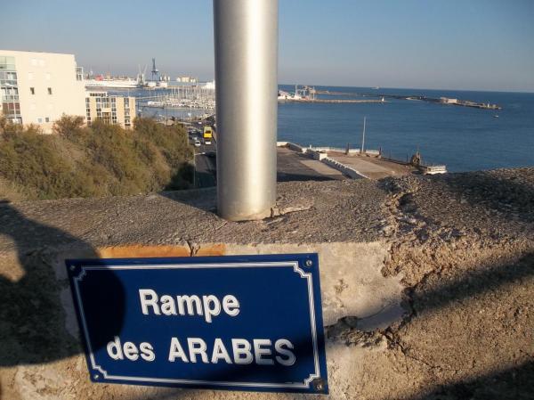 """Plaque de la """" Rampe des Arabes"""""""