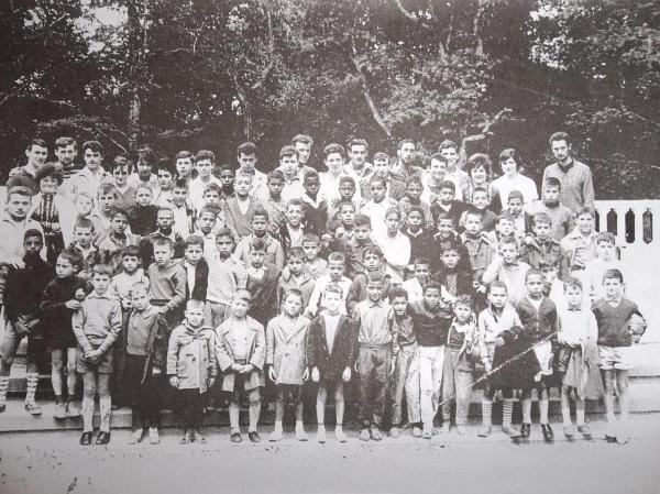 Enfants des mines en colonie dans l'Aude en 1961 (Lampy)