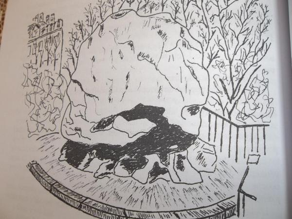 """Le """" gros caillou """" lyonnais (dessin extrait de l'ouvrage)"""