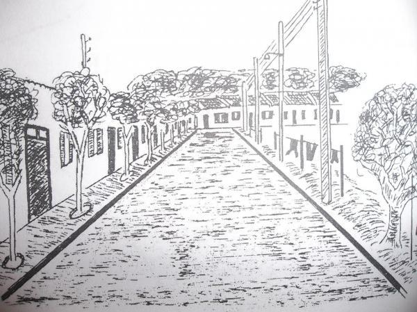 La rue Bugeaud vers1951 (dessin)