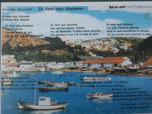 Poème et paysage ( Béni-Saf et son port avant l'indépendance)