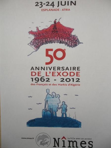 Affiche du cinquantenaire de l'exode des Rapatriés