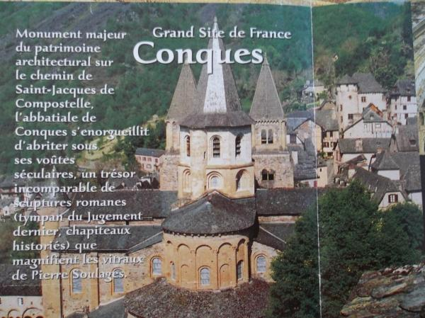 Visite de Conques (colonie de vacances de 1957)