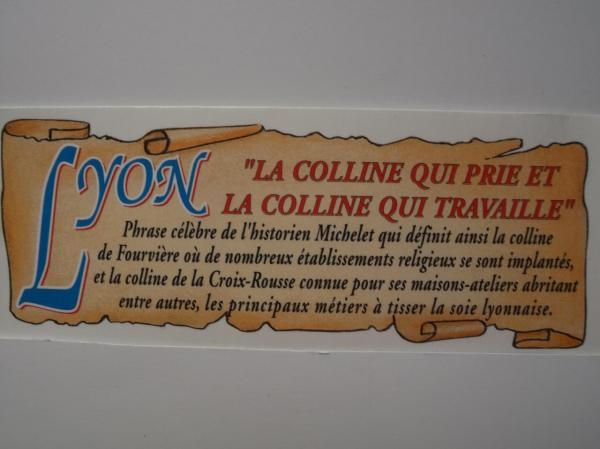 Lyon notre point de chute en 1962