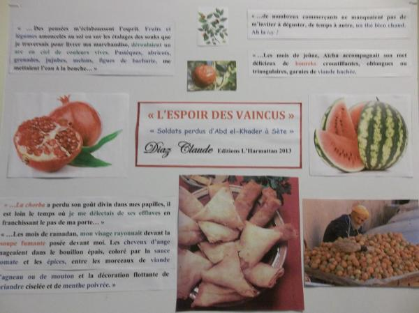 """La nourriture en Algérie, évoquée dans """"L'espoir des vaincus"""""""