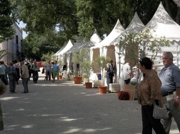 Les stands des dédicaces à Nîmes (2012)