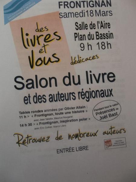 Affiche Salon littéraire de FRONTIGNAN  mars 2017