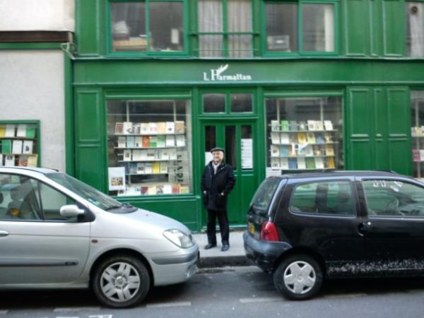 Une des librairies des éditions L'Harmattan à PARIS (75005)