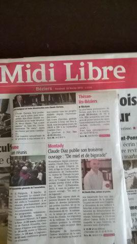 article du Midi libre du 20 février 2015